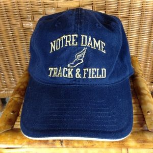 Adidas Notre Dame track and field hat cap VGC OSFA